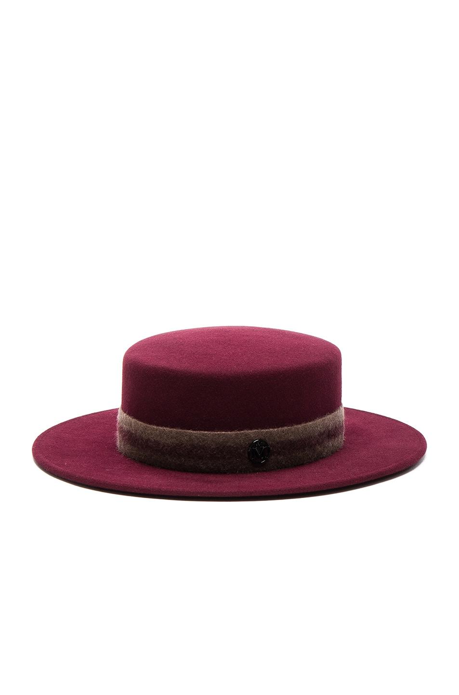 Image 2 of Maison Michel Kiki Hat in Sticky Cherry