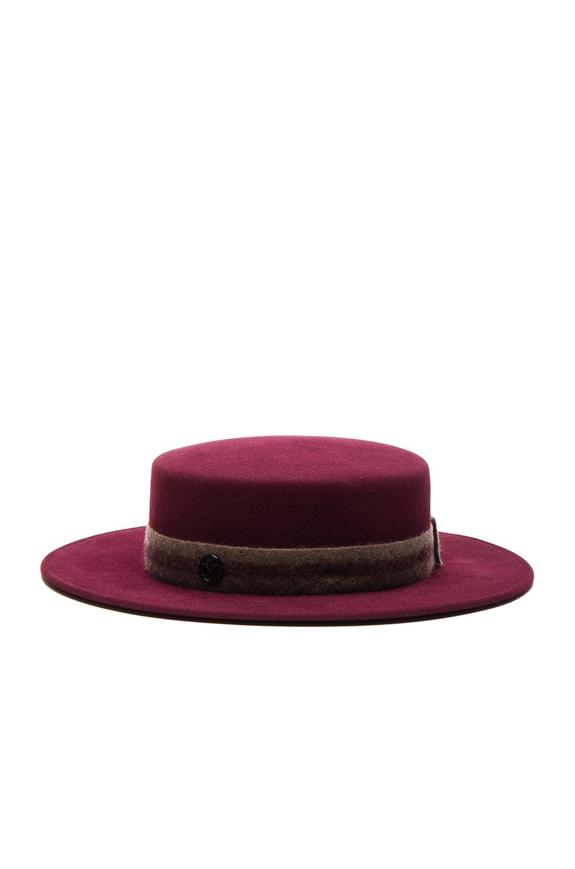 Image 3 of Maison Michel Kiki Hat in Sticky Cherry