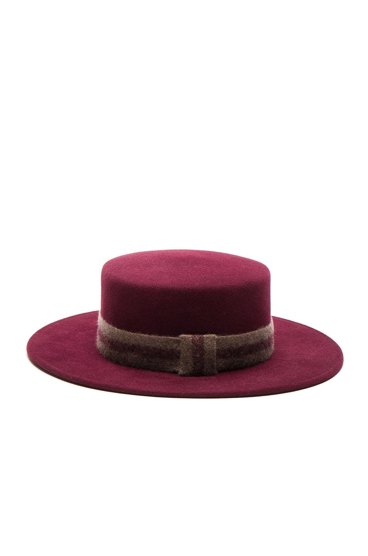 Image 4 of Maison Michel Kiki Hat in Sticky Cherry