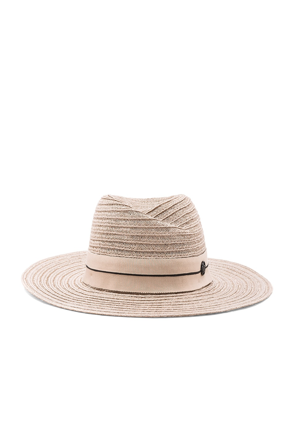 Image 1 of Maison Michel Virginie Straw Hat in Light Rose