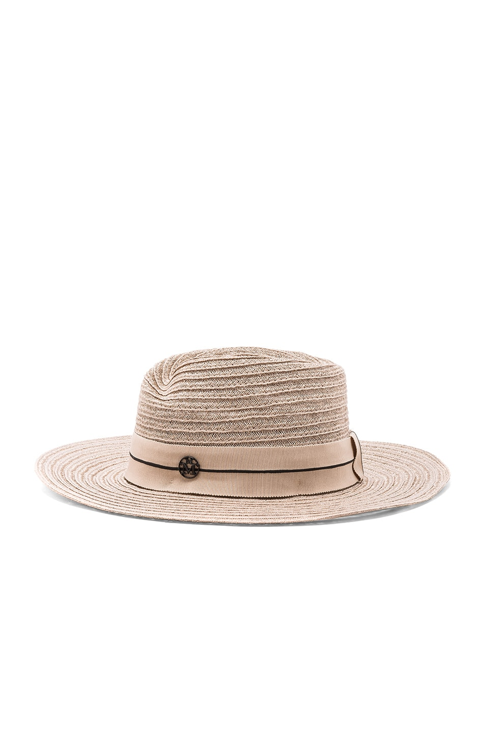 Image 3 of Maison Michel Virginie Straw Hat in Light Rose