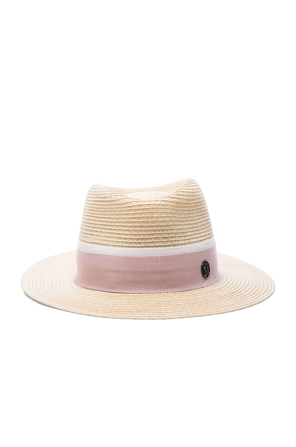Maison Michel Andre Straw Hat In Natural Pink Fwrd 3fa005f7a939