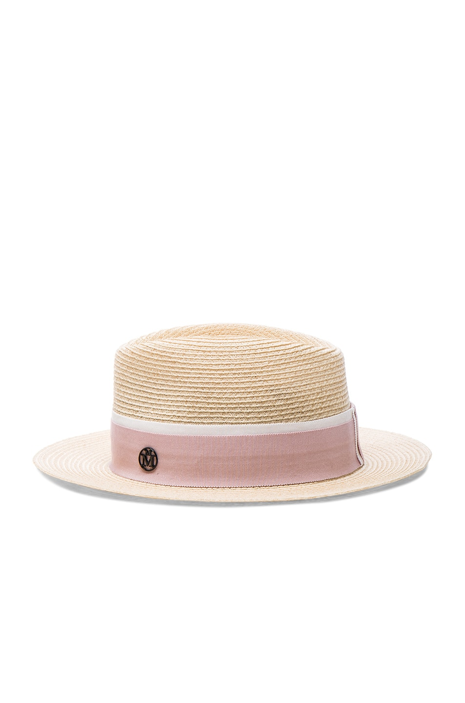Image 3 of Maison Michel Andre Straw Hat in Natural Pink f6b3932d1c2