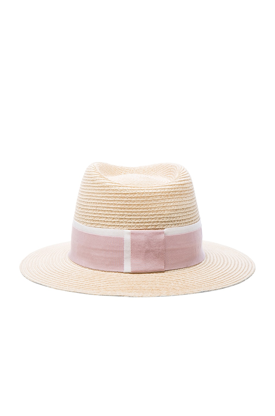 Image 4 of Maison Michel Andre Straw Hat in Natural Pink 7b2ff6db20a