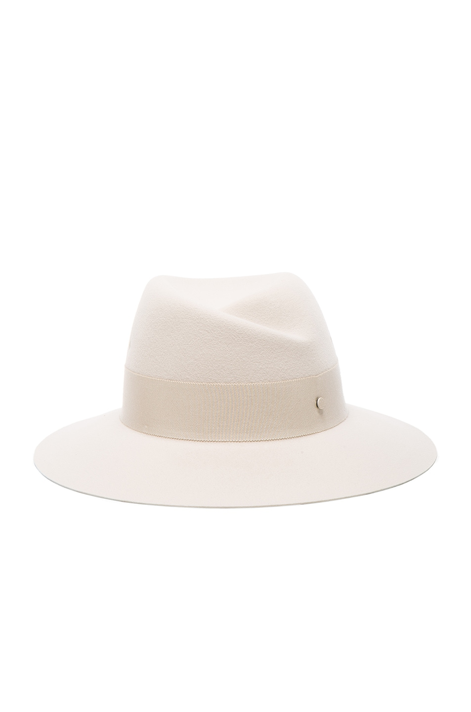 Image 1 of Maison Michel Virginie Hat in White Chalk
