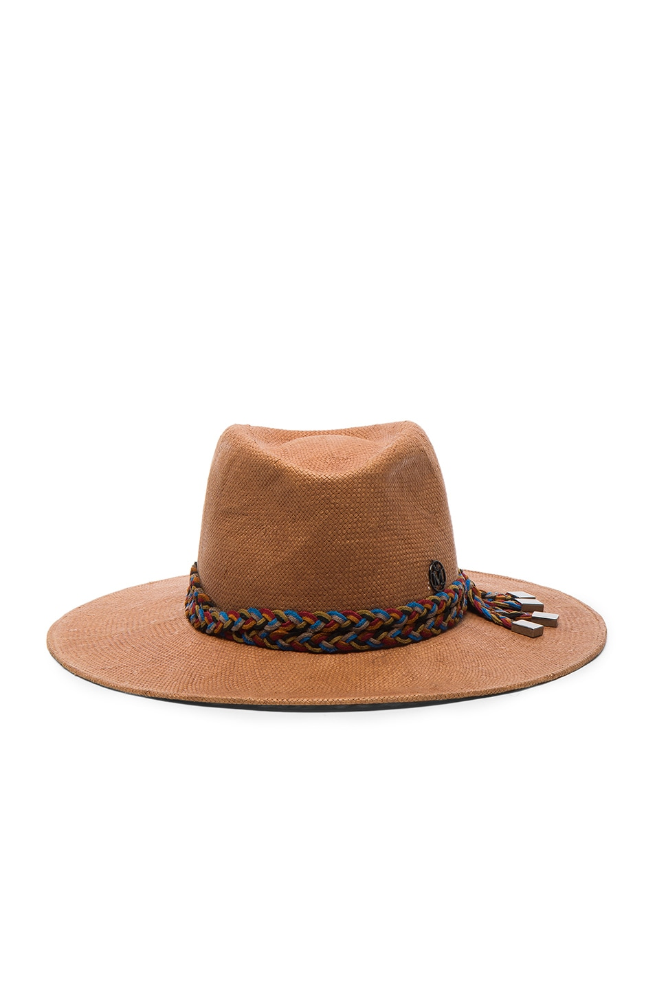 Image 1 of Maison Michel Pierre Hat in Earthy Beige