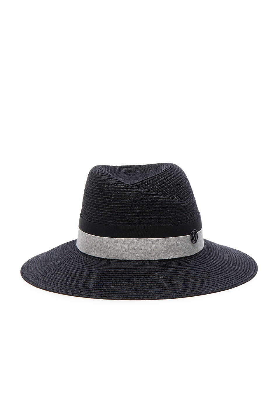 9e815615078aa Image 1 of Maison Michel Rosa Straw Hat in Captain Navy