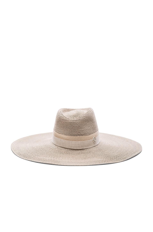 Image 1 of Maison Michel Elodie Straw Hat in White Chalk