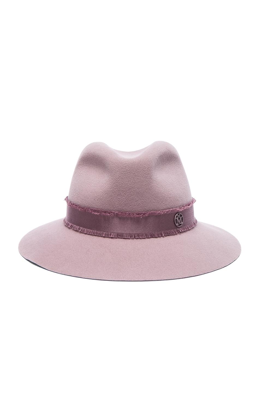 Image 1 of Maison Michel Henrietta Hat in Kick Pink 00bdfdffd7d