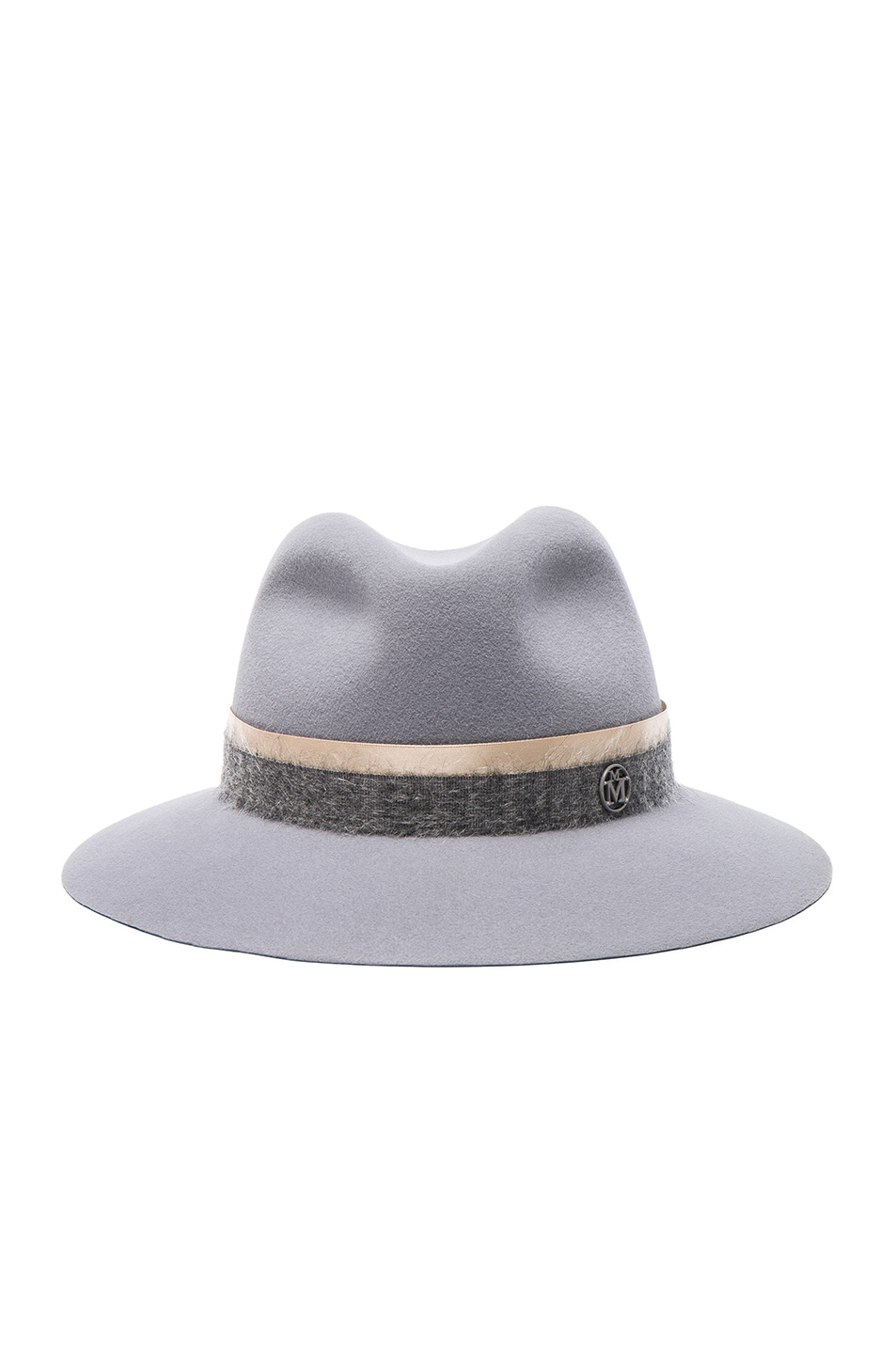 Image 1 of Maison Michel Henrietta Hat in Tiebreaker Grey