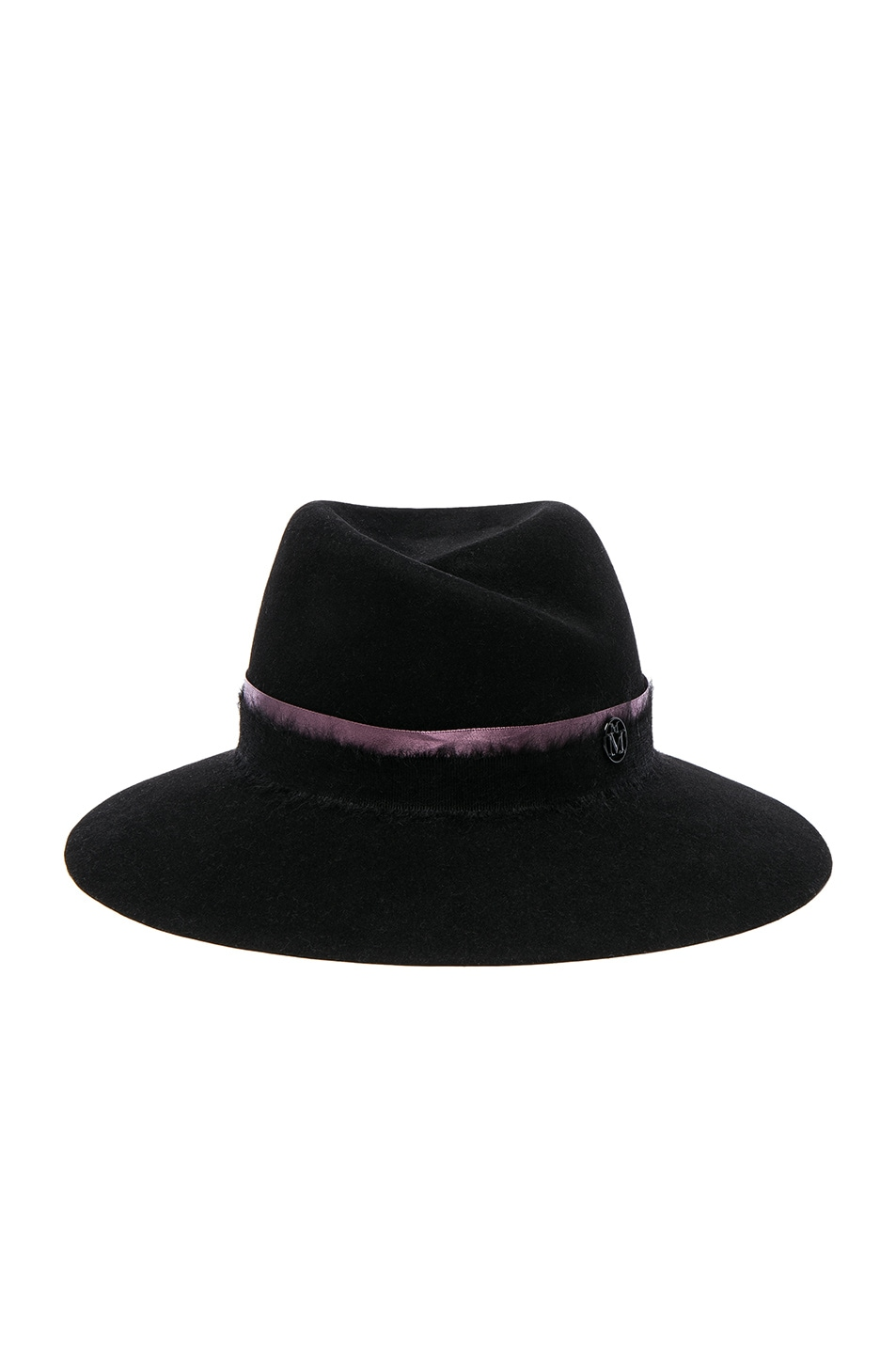 Image 1 of Maison Michel Virginie Hat in Black