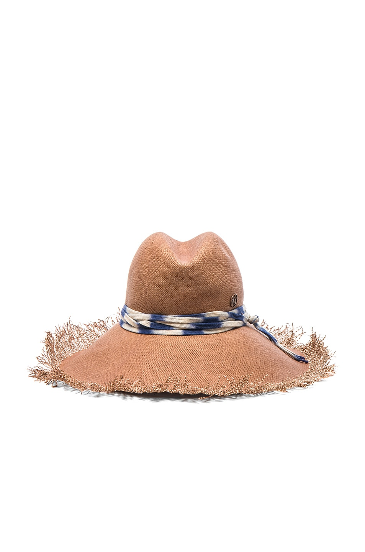 Image 1 of Maison Michel Ginger Hat in Sandy Beige
