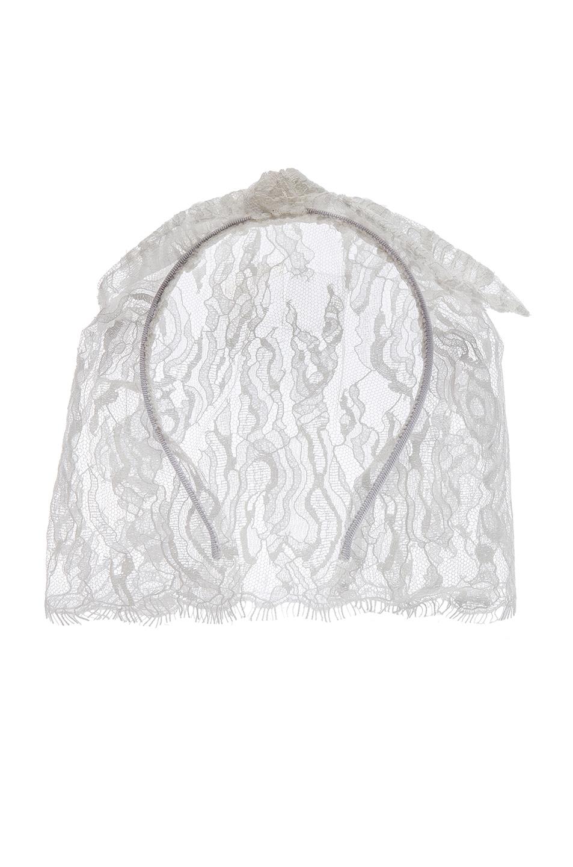Image 1 of Maison Michel Tina Veil Headband in White