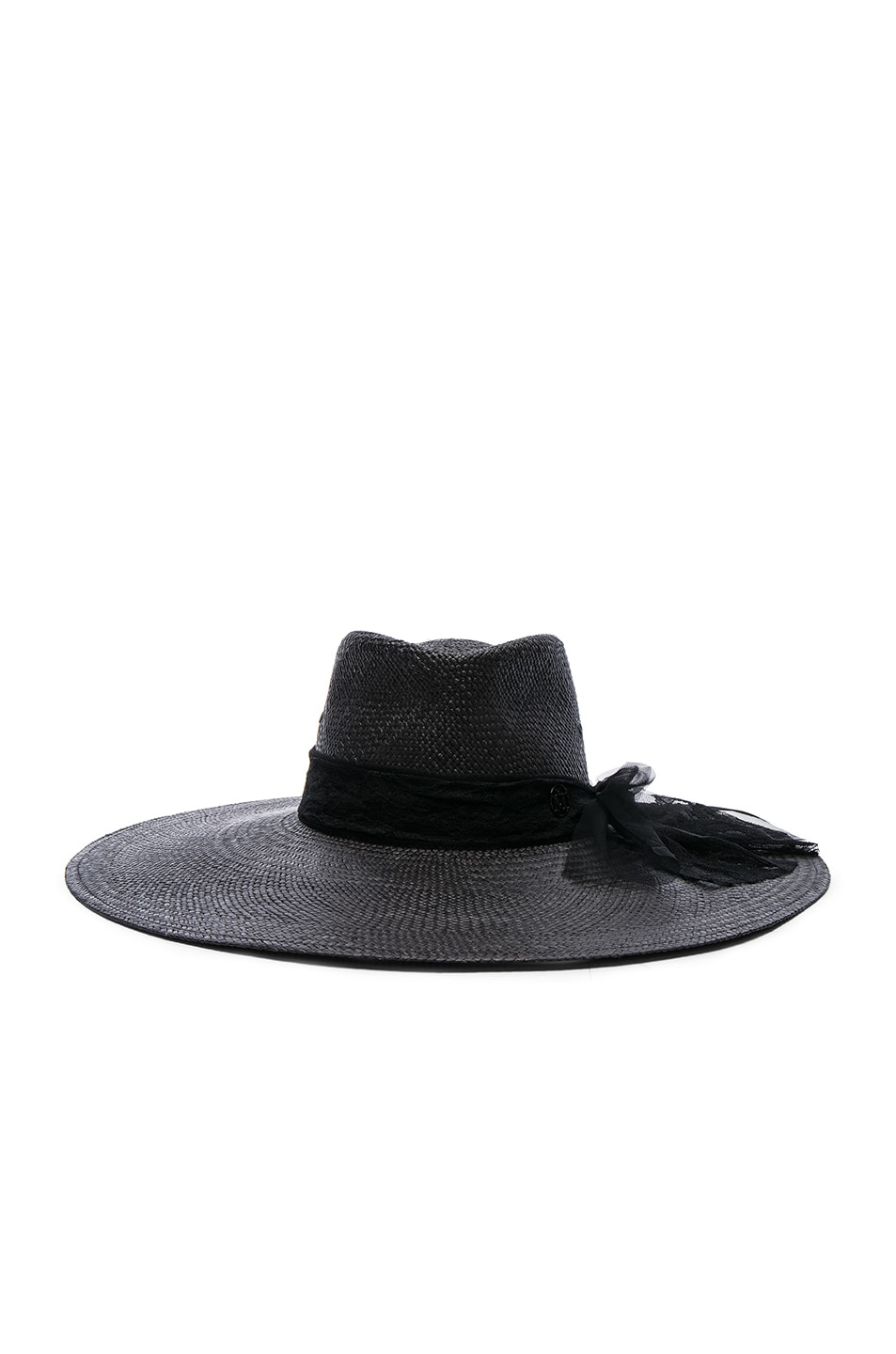 Image 1 of Maison Michel Pina Hat in Black