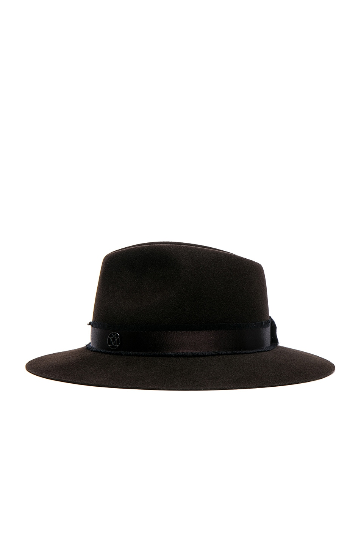 Rico fedora hat - Black Maison Michel 9lg0fptKxj
