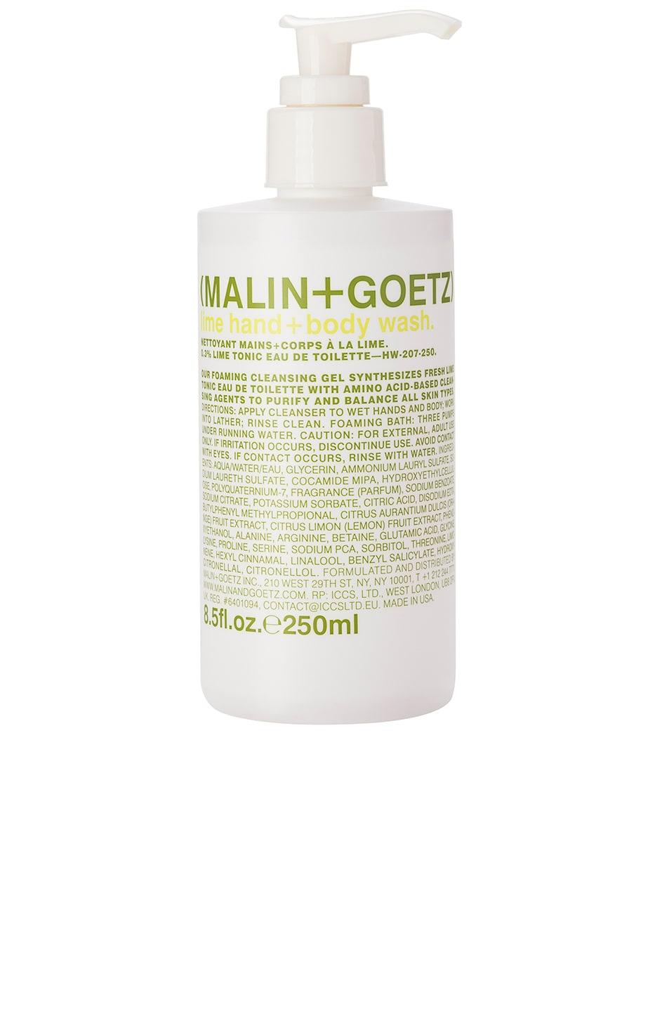 Image 1 of MALIN+GOETZ Lime Hand + Body Wash in