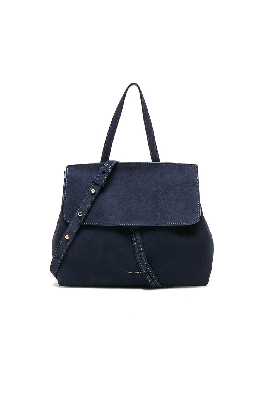 Image 1 of Mansur Gavriel Mini Lady Bag in Blu Suede