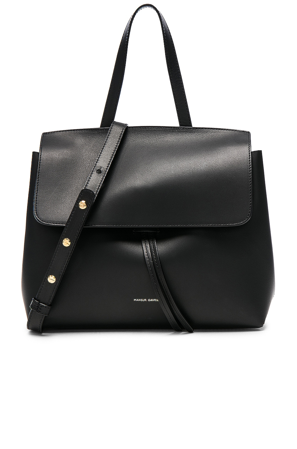 Image 1 of Mansur Gavriel Mini Lady Bag in Black & Blu Vegetable Tanned