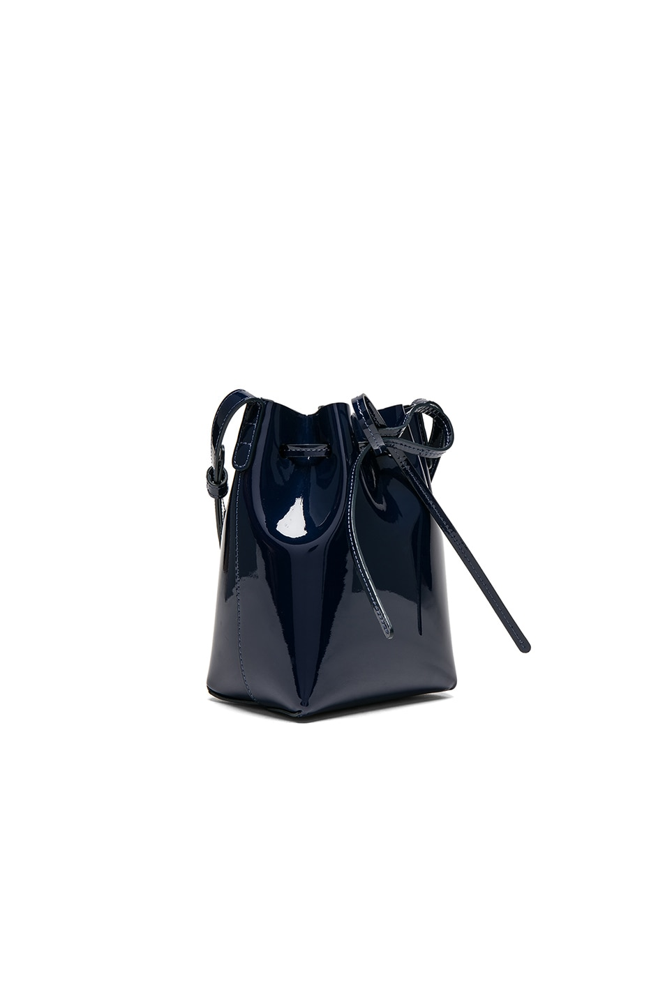 Image 3 of Mansur Gavriel Mini Mini Bucket Bag in Blu Patent