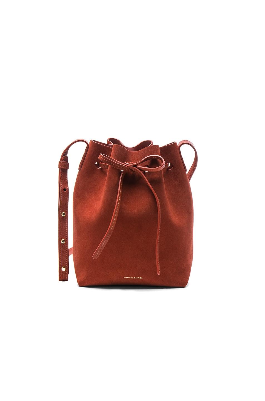 Image 1 of Mansur Gavriel Mini Bucket Bag in Brick Suede