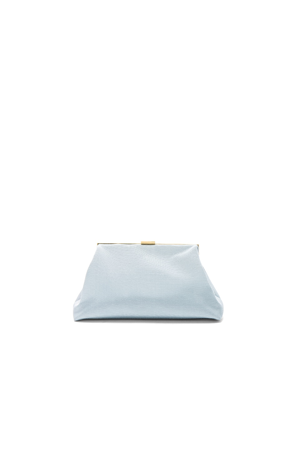 Image 1 of Mansur Gavriel Mini Volume Clutch in Sky Blue Grosgrain