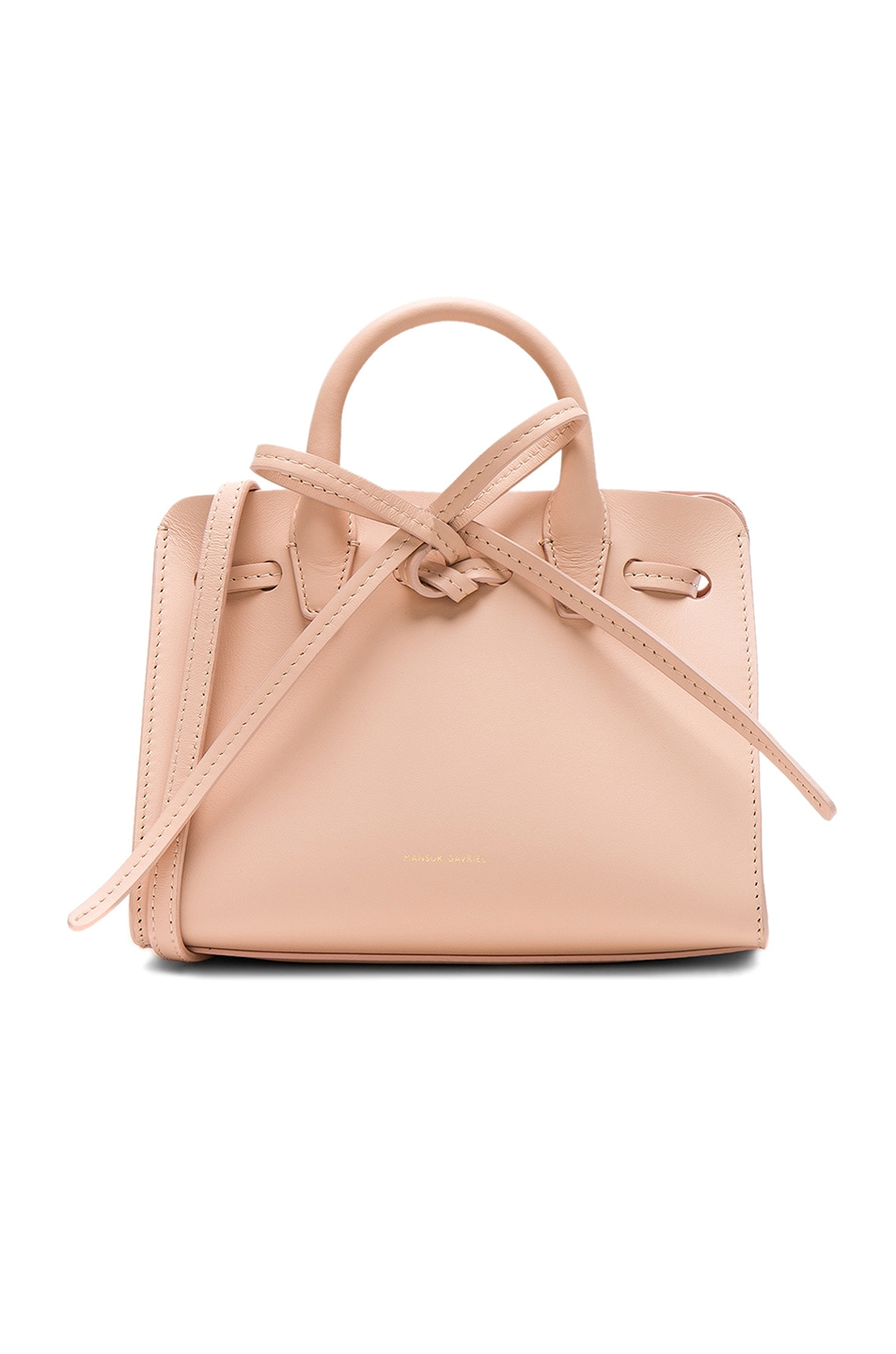 Image 1 of Mansur Gavriel Mini Mini Sun Bag in Rosa Calf