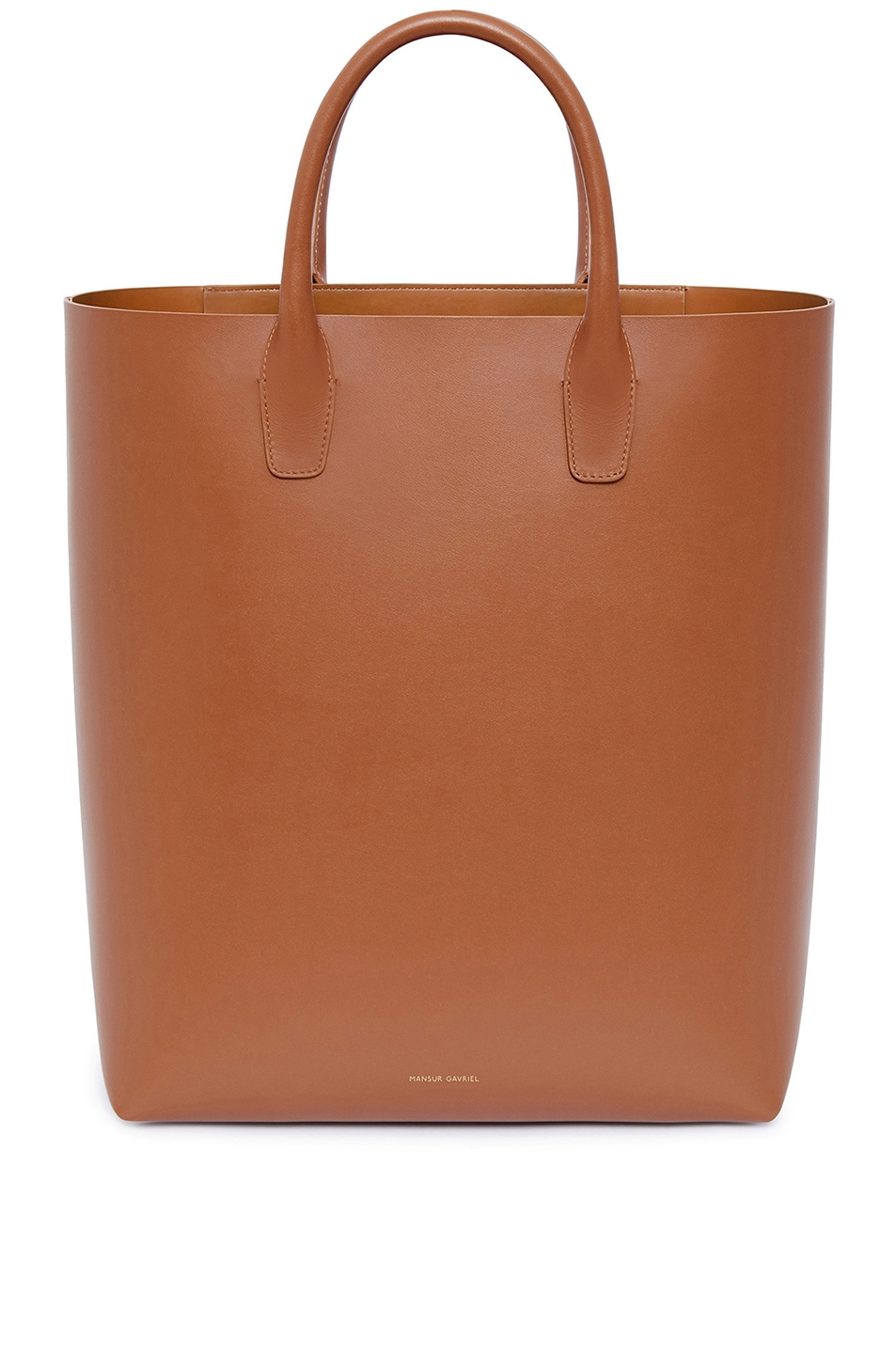 Image 1 of Mansur Gavriel Calf North South Tote in Saddle