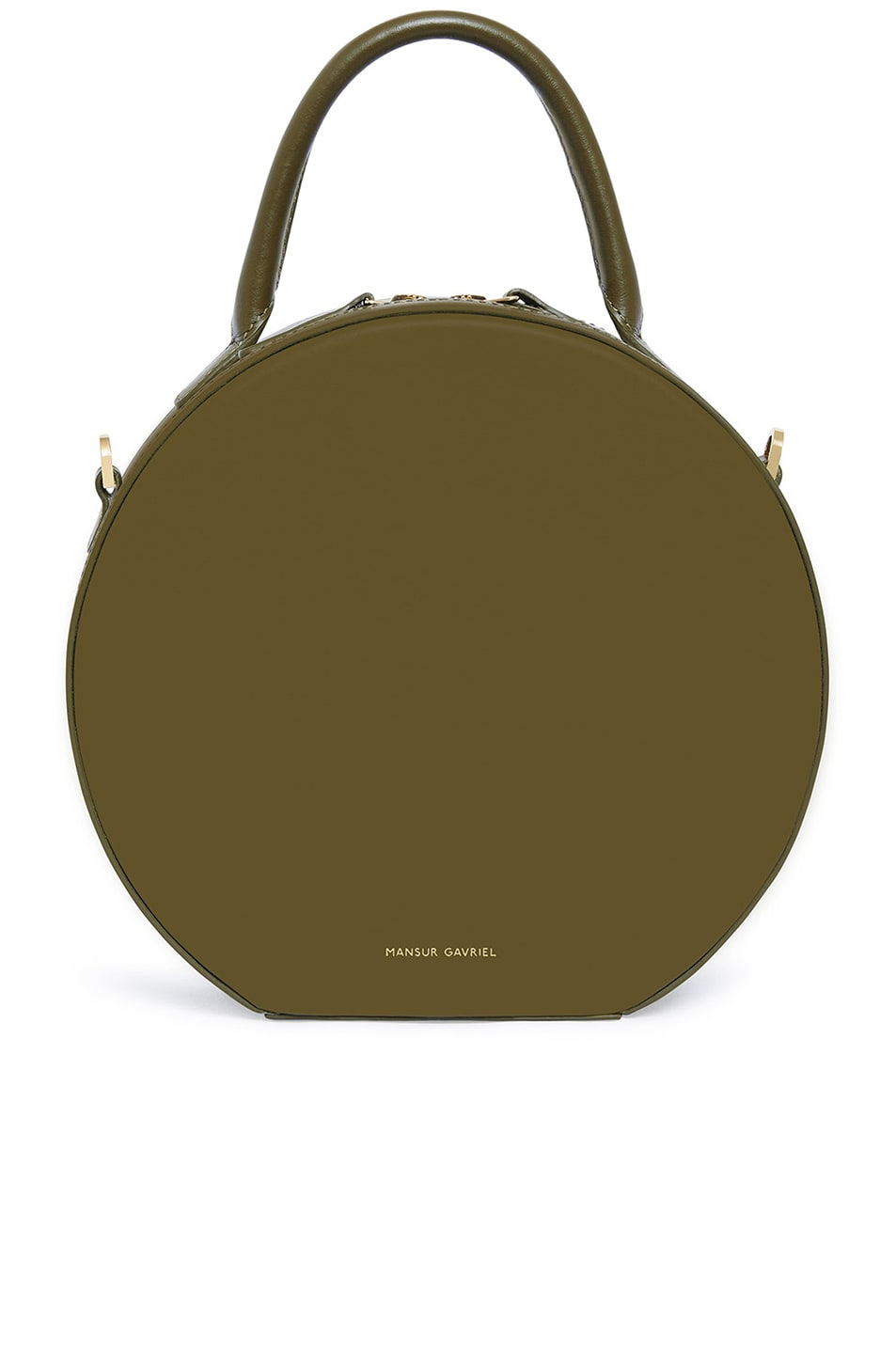 Image 1 of Mansur Gavriel Calf Circle Crossbody in Olive