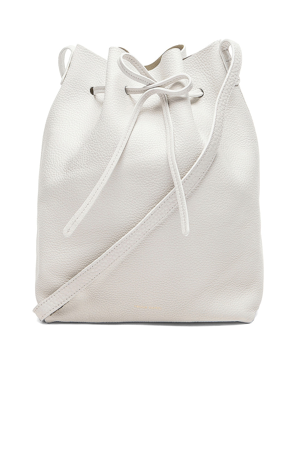 Image 1 of Mansur Gavriel Tumble Large Bucket Bag in White