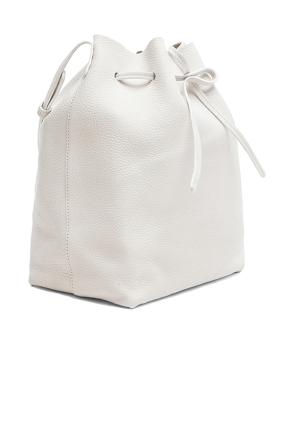 Image 4 of Mansur Gavriel Tumble Large Bucket Bag in White