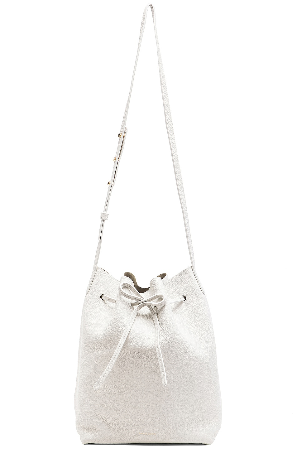 Image 6 of Mansur Gavriel Tumble Large Bucket Bag in White