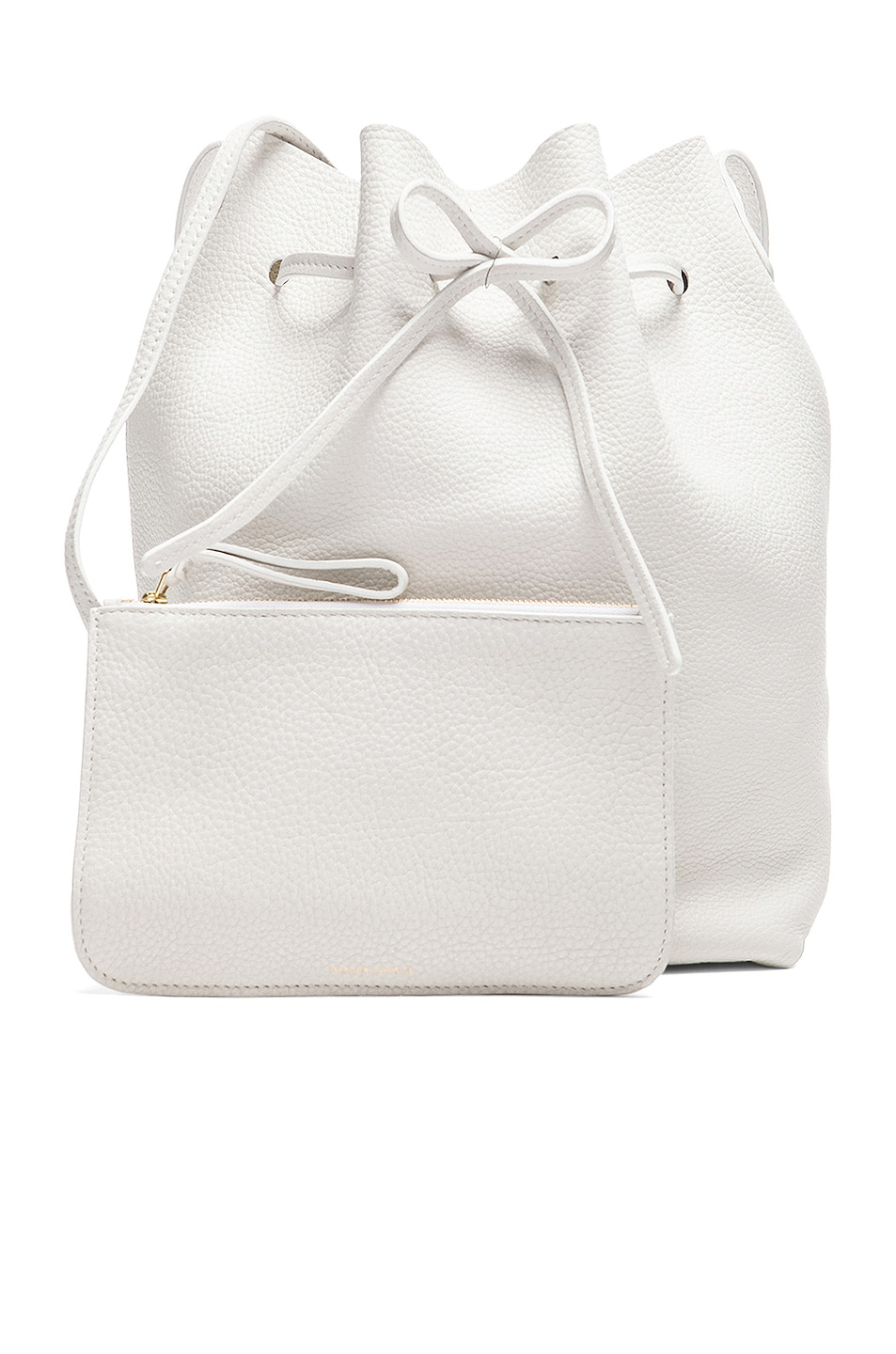 Image 7 of Mansur Gavriel Tumble Large Bucket Bag in White