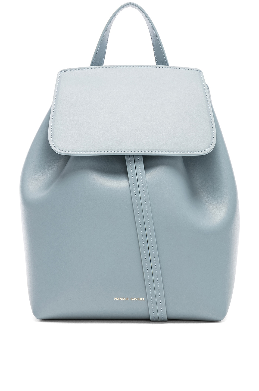 Image 1 of Mansur Gavriel Mini Backpack in Grey Blue