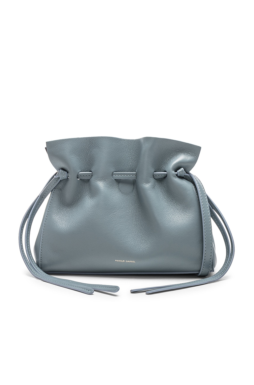 Image 1 of Mansur Gavriel Mini Protea Bag in Grey Blue & Blue