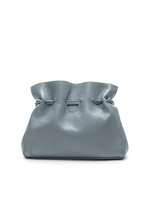 Image 3 of Mansur Gavriel Mini Protea Bag in Grey Blue & Blue