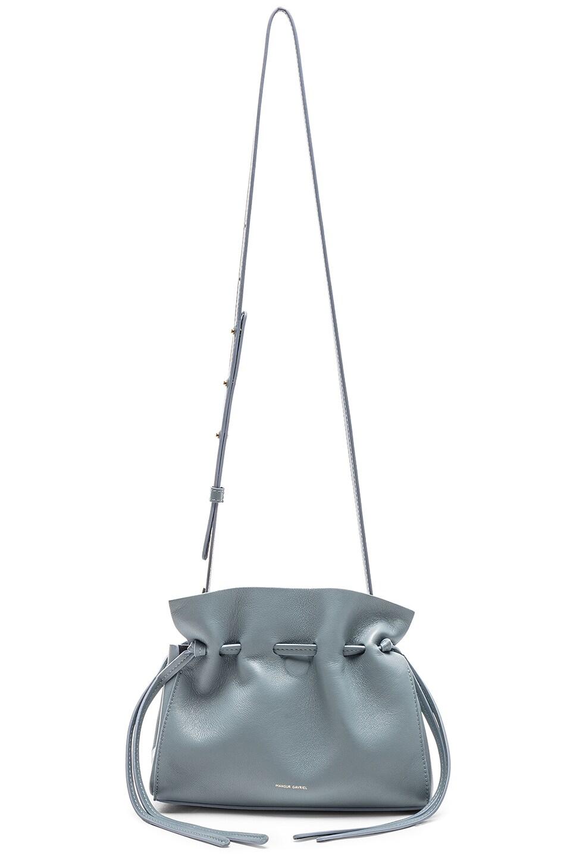 Image 6 of Mansur Gavriel Mini Protea Bag in Grey Blue & Blue