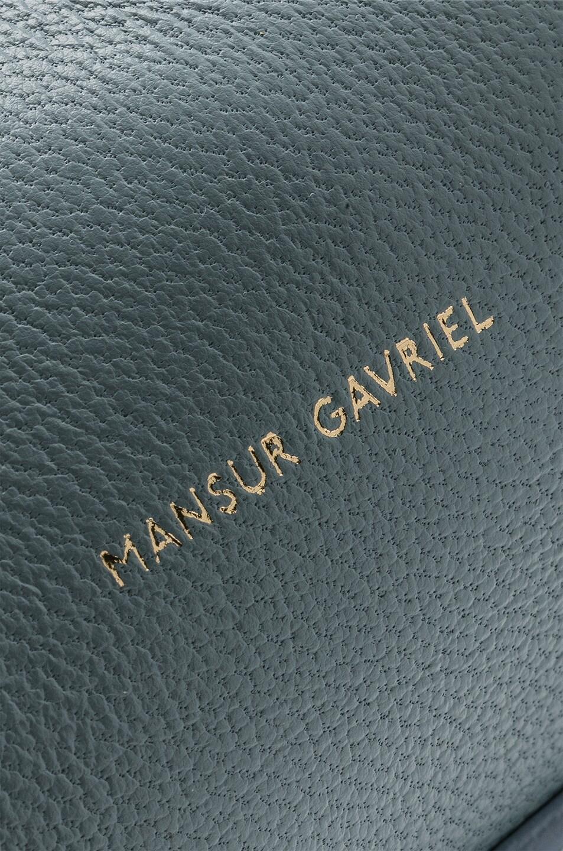 Image 7 of Mansur Gavriel Mini Protea Bag in Grey Blue & Blue