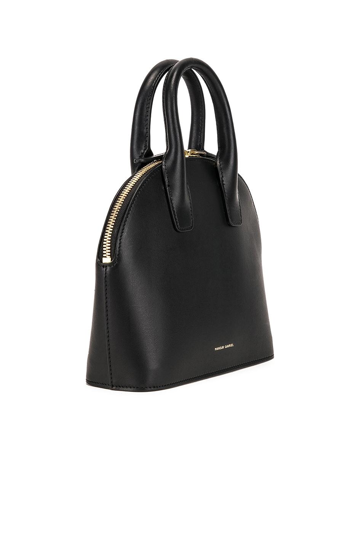 Image 4 of Mansur Gavriel Mini Top Handle Bag in Black & Flamma