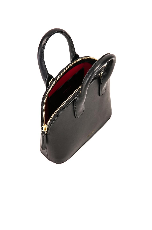 Image 5 of Mansur Gavriel Mini Top Handle Bag in Black & Flamma