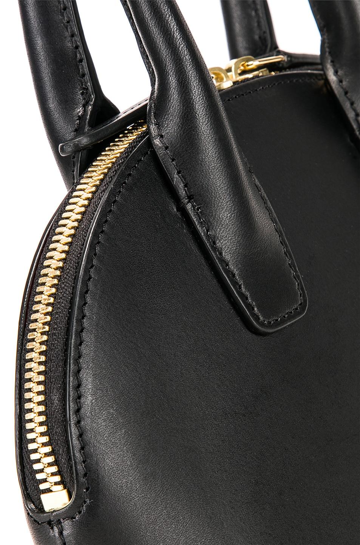 Image 8 of Mansur Gavriel Mini Top Handle Bag in Black & Flamma