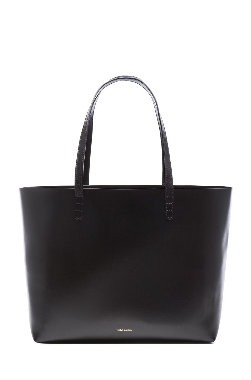 Image 1 of Mansur Gavriel Coated Large Tote in Black