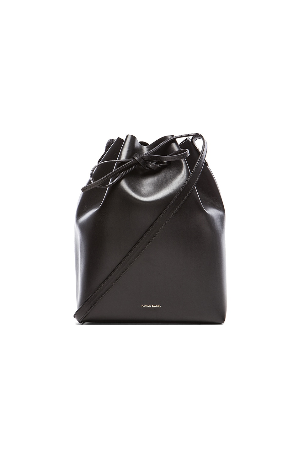 Image 1 of Mansur Gavriel Coated Large Bucket Bag in Black