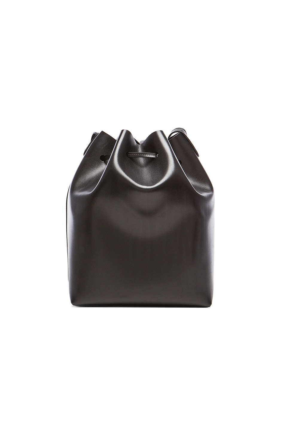 Image 2 of Mansur Gavriel Coated Large Bucket Bag in Black