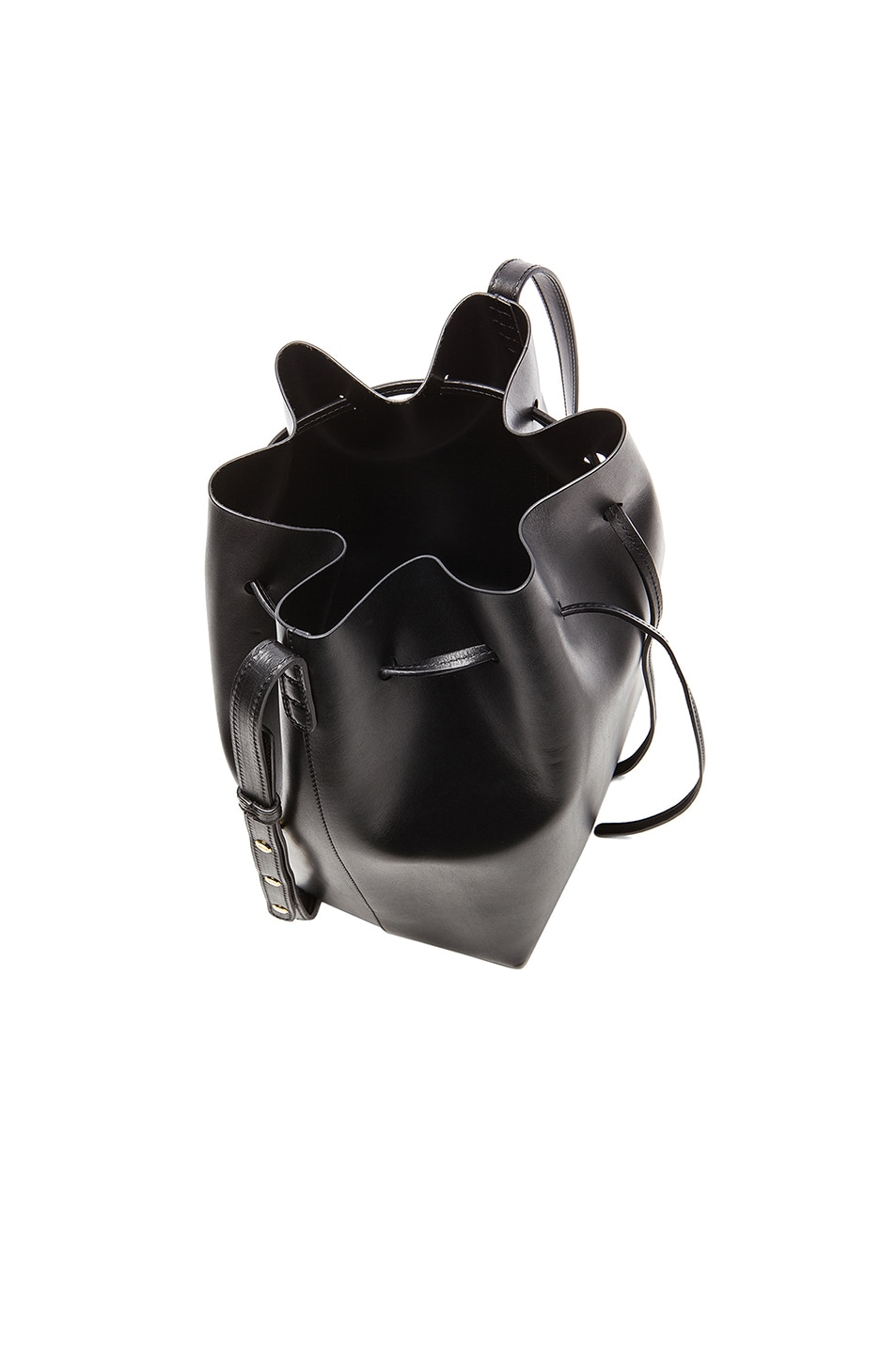 Image 4 of Mansur Gavriel Coated Large Bucket Bag in Black
