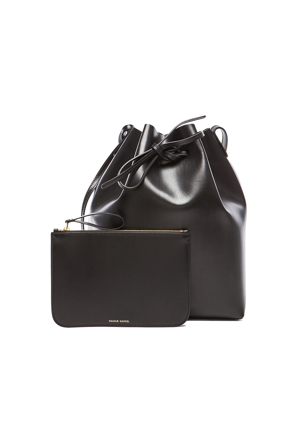 Image 6 of Mansur Gavriel Coated Large Bucket Bag in Black