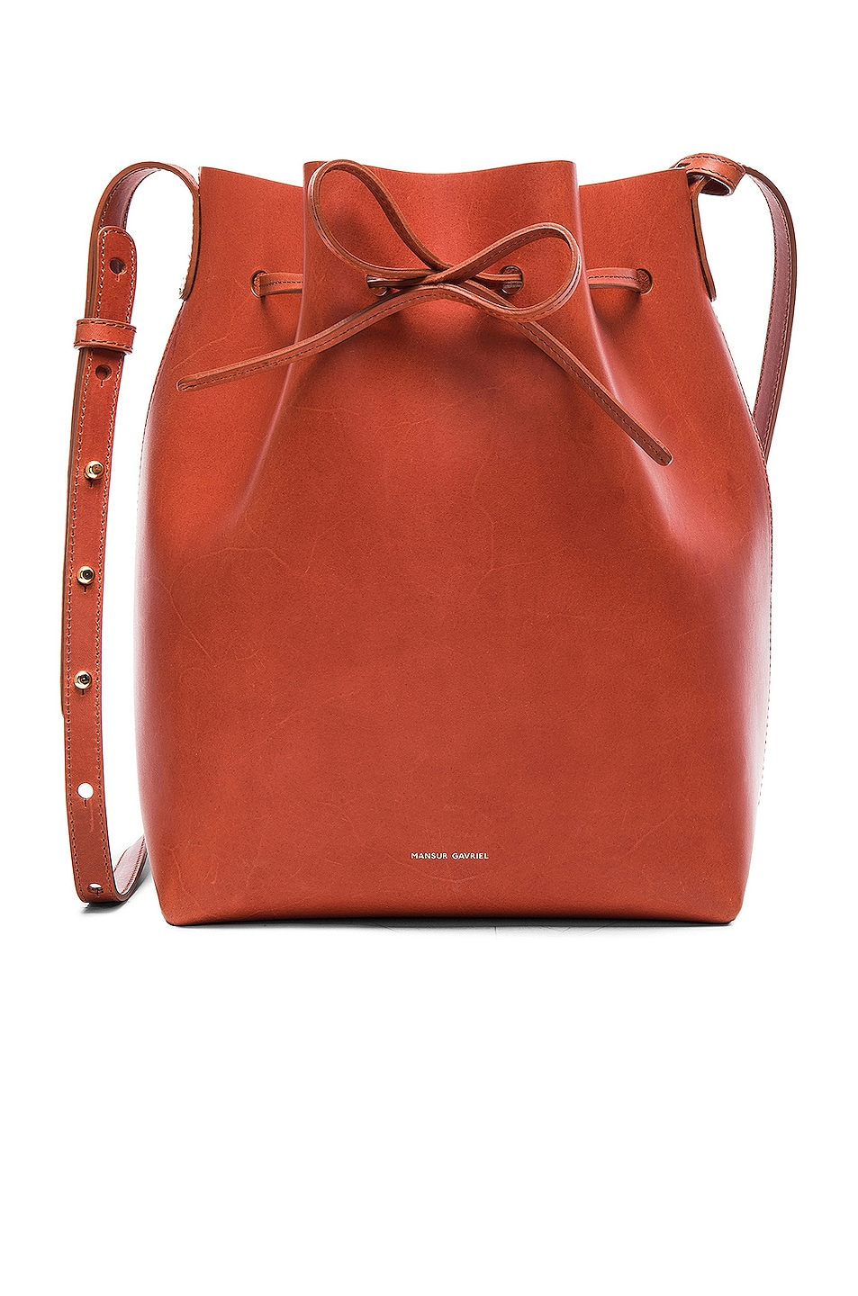 Image 1 of Mansur Gavriel Bucket Bag in Brandy