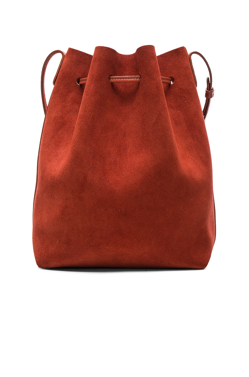 Image 3 of Mansur Gavriel Bucket Bag in Brick Suede