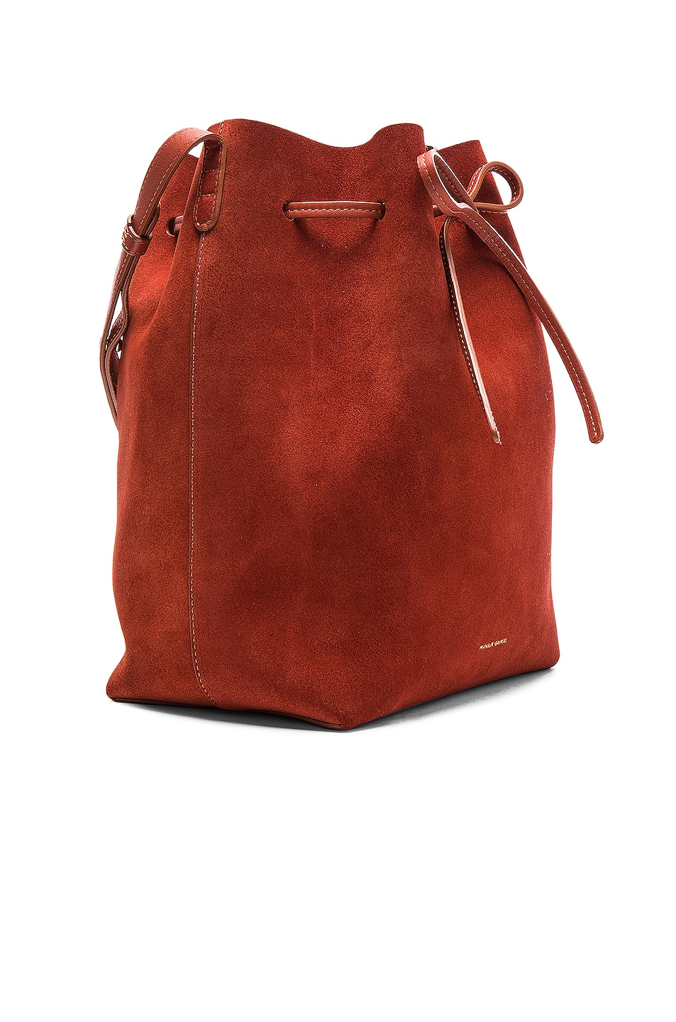 Image 4 of Mansur Gavriel Bucket Bag in Brick Suede