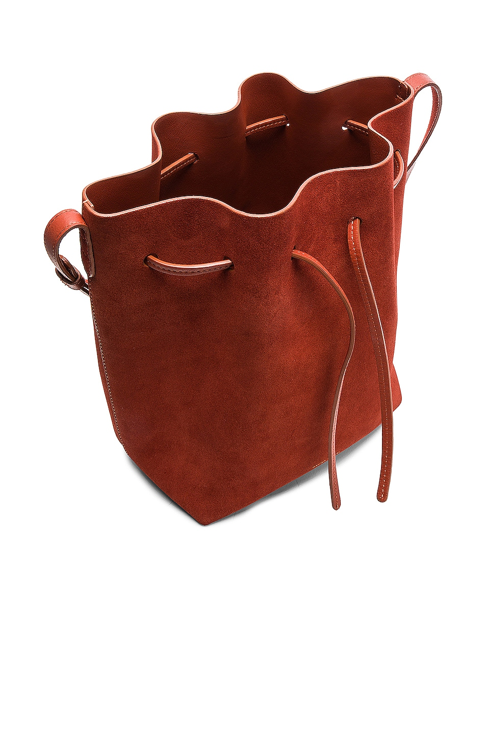 Image 5 of Mansur Gavriel Bucket Bag in Brick Suede