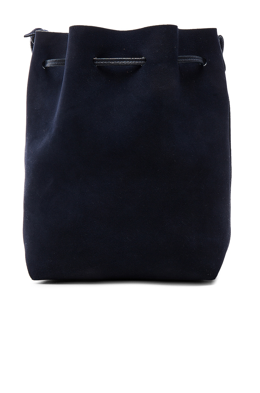 Image 3 of Mansur Gavriel Bucket Bag in Blu Suede